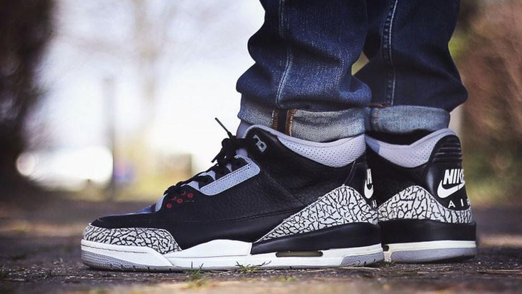air jordan 3 cement black